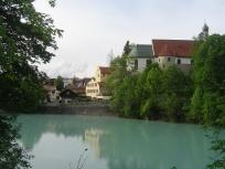 Alpen Strasse, DE, blue river